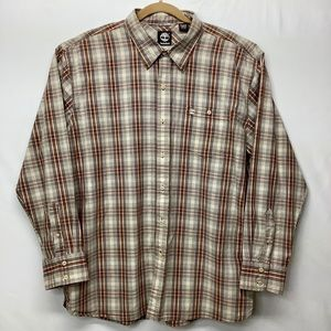 Timberland Casual Plaid Button Front Size XL